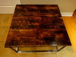Barn Board Coffee Table Square Barn Board Coffee Table On Reclaimed Chrome Base