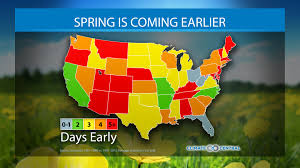 spring is coming earlier climate central