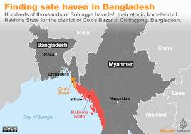 Korea On Map Rohingya Crisis Explained In Maps Myanmar Al Jazeera