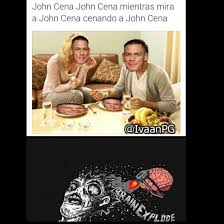 Memes De John Cena - john cena jonh cena mientras mira a john cena cenando john cena