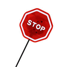 stop sign with led lights sensor stop sign flashing led lights stand auto car parking detector