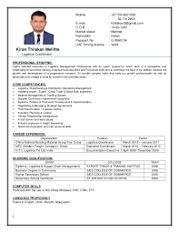 logistics resume logistics administrator sample resume