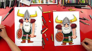 how to draw a viking art for kids hub
