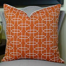Orange Sofa Throw Buy Luxury Decorative Throw Pillow Orange Textured Couch Pillow