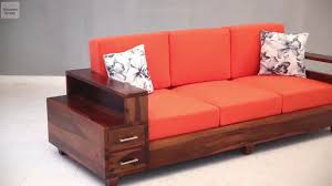 Three Seater Wooden Sofa Designs 3 Seater Sofa U2013 Shop Solace 3 Seater Wooden Sofa Online In Honey