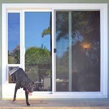 Diy Patio Doors Sliding Door Insert Screen With Built In Patio Pet Ready