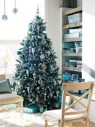 inspiring blue christmas tree for minimalist christmas living room