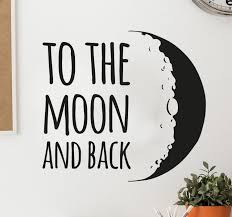 to the moon and back sticker tenstickers