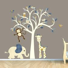 monkey wallpaper for walls wall decals for nurseries monkey wall decal jungle animal tree decal