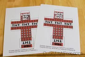 8 images minecraft tnt printable valentine u0027s free