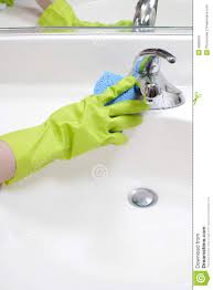 cleaning bathroom sink royalty free stock photo image 4828555