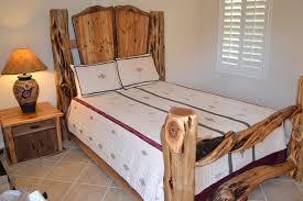Wood Log Bed Frame Juniper Log Bed Custom Built Roaring Fork Custom Billiards