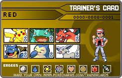 Pokemon Trainer Card Designer The Kanto Starters By Tails19950 On Deviantart