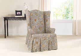 sure fit slipcovers wing chair sure fit slipcovers tennyson by waverly wing chair slipcover wing