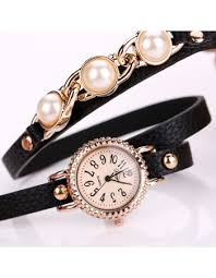 leather ladies bracelet images 2017 top luxury pearl watch fashion bracelet watch women watches jpg