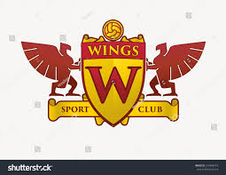 wings club logo template soccer club stock vector 515998774