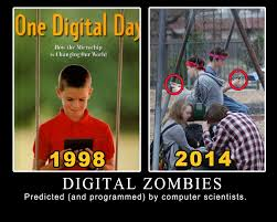 Grandma Computer Meme - digital zombies the age where kids don t look up and barely go
