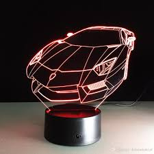 dobe 3d illusion night light supercar lambo lp7 lamp birthday