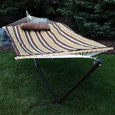 sunnydaze universal heavy duty hammock stand 2 person for