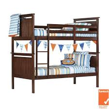 Timber Bunk Bed Piccadilly Solid Pine Timber Bunk Bed Single Size Chocolate