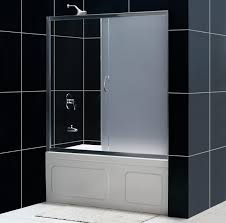 Sliding Shower Doors For Small Spaces Dreamline Showers Infinity Bathroom Shower Door In Frosted Doors