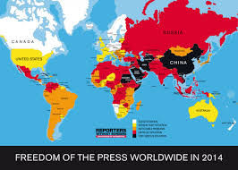 Venezuela World Map by Freedom Of The Press Worldwide Business Insider