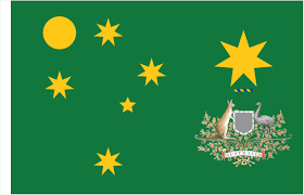 Axis Flag File Seven Golden Stars With The Australian Coat Of Arms Covered