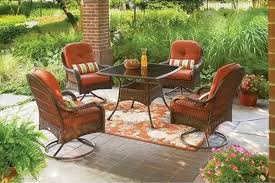 4 Piece Wicker Patio Furniture - amazon com 5 piece patio dining set seats 4 deck chairs