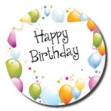 birthday stickers happy birthday stickers 30mm space to write name balloons