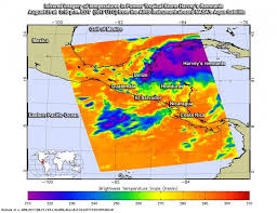 map of mexico yucatan region infrared image shows harvey s remnants affecting yucatan