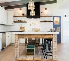 Wood Kitchen Shelves by Black Kitchen Hood With Wood Floating Shelves Country Kitchen