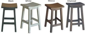 timber bar stools saddle bar stool charcoal finish solid mango timber our furniture