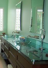 Glass Vanity Countertop Floating Vanity In Glass Countertops Bathroom U2013 Martaweb