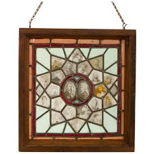 antique and vintage windows 234 for sale at 1stdibs incredible stained glass window with ambrotype family tree circa 1865