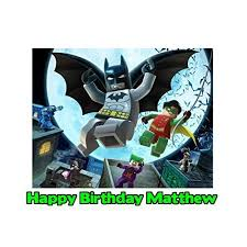batman cake toppers lego batman edible frosting image photo cake topper sheet 1 4