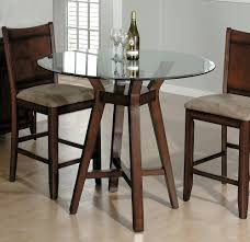 dark brown round kitchen table round bar style glass top tables with dark brown solid wood finish