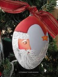 3 5 painted santa spoon ornament 15 00 via etsy