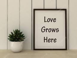 Home Decor Wall Art Motivation Words Love Grows Here Family Happiness Home Love