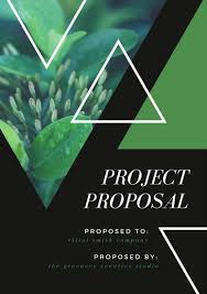 design proposal canva green nature triangles project general proposal templates by canva