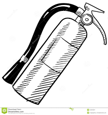 fire extinguisher sketch stock images image 22595834