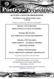 autumn and winter programme 2017 poetry in presteigne