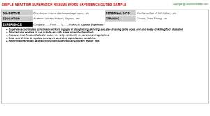 Supervisor Objective For Resume Mail Room Supervisor Resume Mailroom Supervisor Resume Example