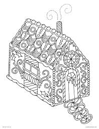 merry christmas gingerbread house coloring pages womanmate