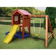 Backyard Swing Set Ideas Sportspower Wp 248 Sand N Swing Swing Set Sears Outlet