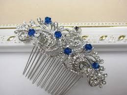 something blue wedding something blue bridal hair comb something blue wedding headpiece