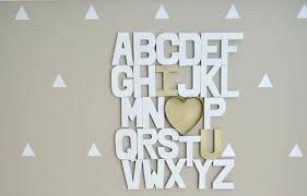 lettre chambre lettres pour chambre bebe lettre pour porte chambre bebe