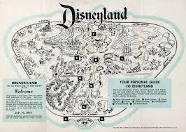 Disney Map Vintage Map Of Disneyland 1957 Two Years After Disneyland