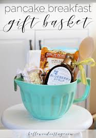 bridal shower gift baskets bridal shower gift idea pancake breakfast gift basket
