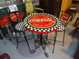 coca cola table and chairs coca cola bistro table with two chairs coca cola cola and coke