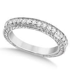 vintage bands rings images Vintage style filigree diamond wedding band platinum 0 19ct u1490 jpg